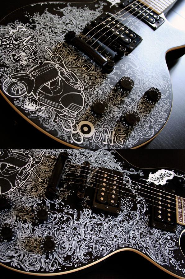 guitare customisée