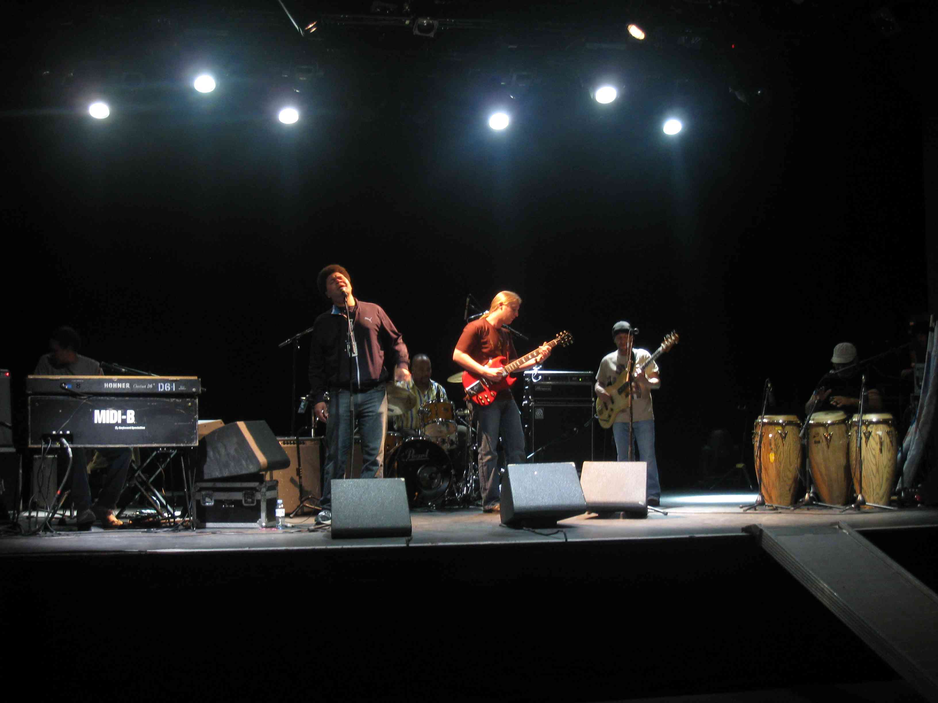 Derek Trucks band soundcheck