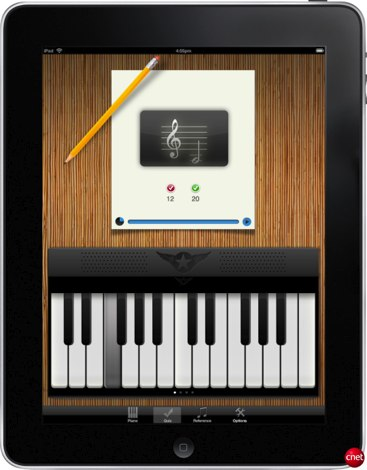 Application partition piano ipad