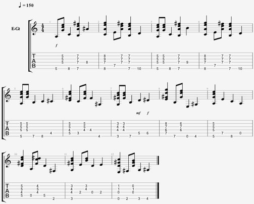 Leçon de guitare jazz : progression avec ligne de basse