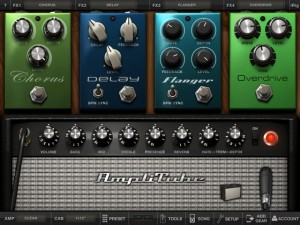 Interface de l'Amplitube sur iPad