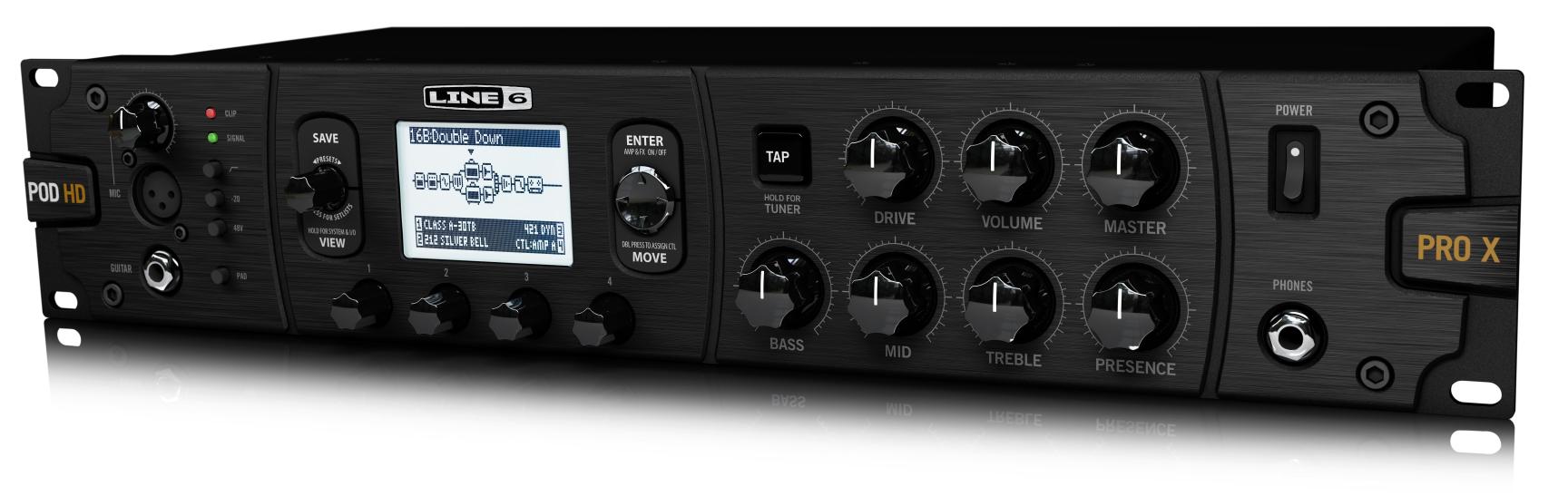 Line6 annonce le remplaçant de son POD HD Pro : le POD HD Pro X
