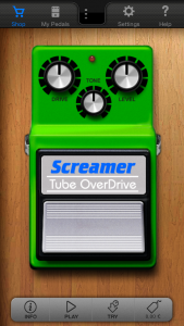 Vue de la pédale Tube Screamer