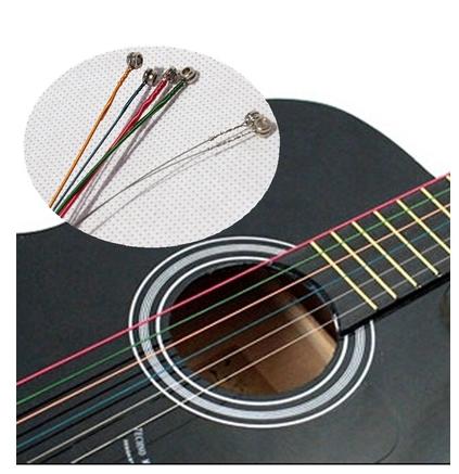cordes guitare de couleur