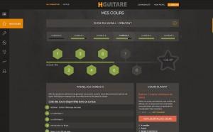 Capture d'écran du site Hguitare