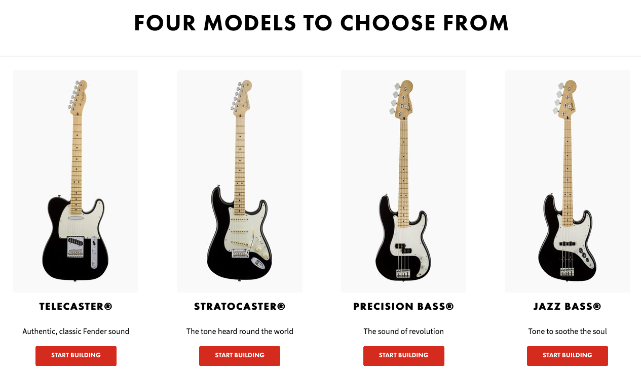 Pas bricolo ? Pas grave, Fender te permet de customiser ta propre guitare